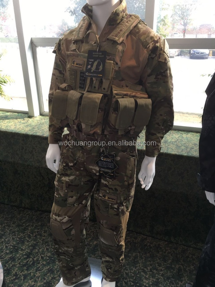 Tc us tactical suits with vest ripstop multicam camouflage fabric