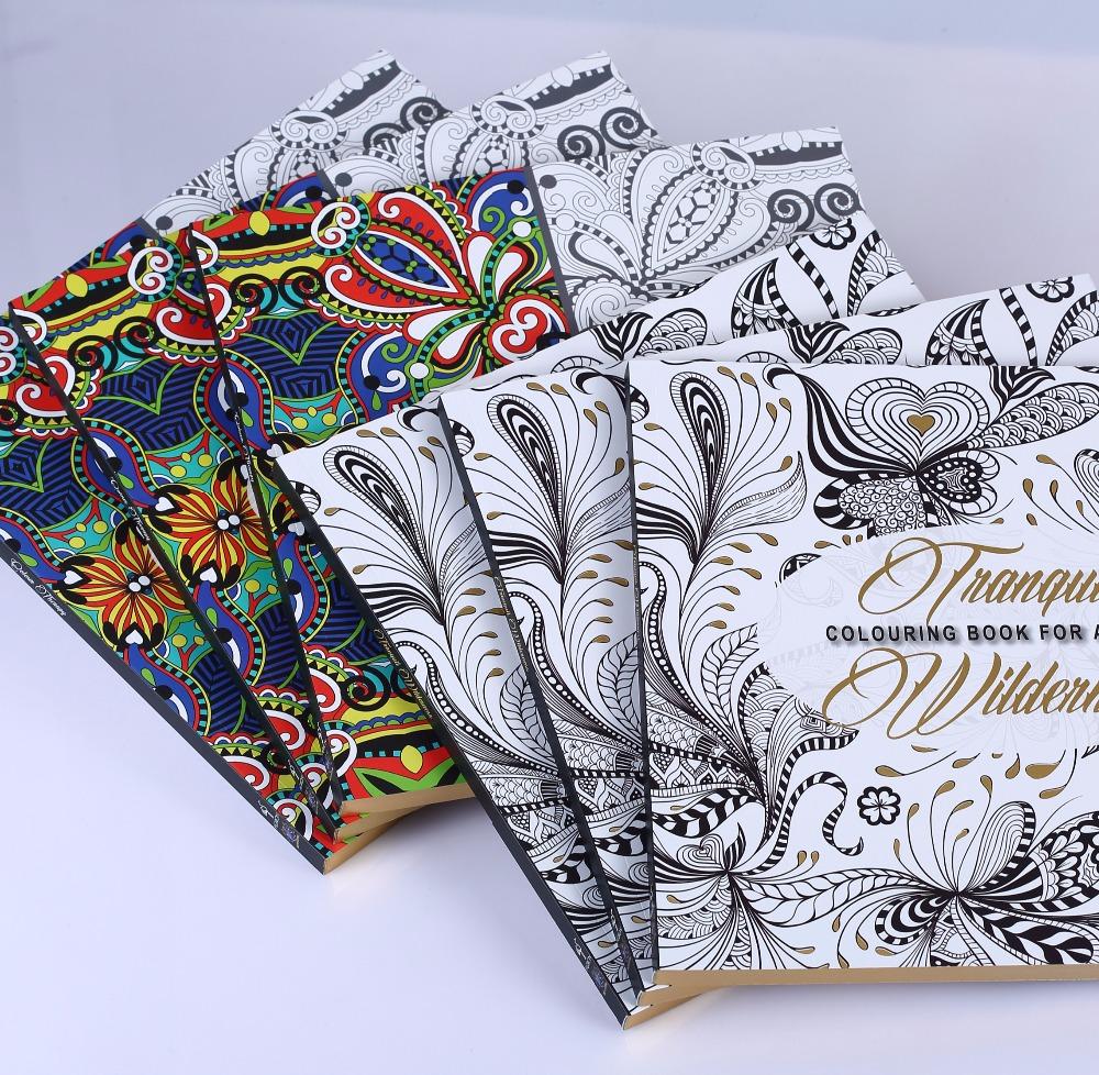 Mewarnai Buku Dengan Stiker Printing Untuk Orang Dewasa