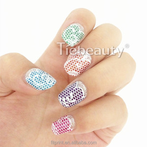 2016 Tiebeauty kids nail sticker New lovely nail patch girls beauty nail wrap