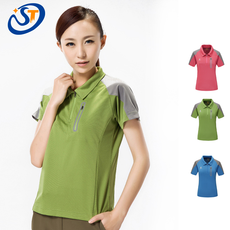 Women Polo Shirts Quick Dry Woman Summer Tops Casual Short Sleeve Patchwork Colors Breathable Sports Tops Free Shipping, M-2XL