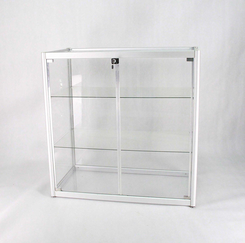 Aluminum Glass Display Showcase, Sliding Door with Locks 102729