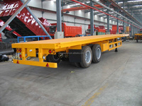 best quality 40 ton 2 axle flat bed trailer 12500x 2500x1600mm dimensions for Nigeria