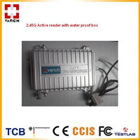 2.45G active RFID READER with water proof box for construction person management