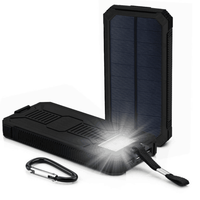 Solar Power Bank 10000mAH 20000MAH Solar charger with LED Lights high Power Solar Battery Charger Camping power bank