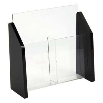 Acrylic manufacturer 2 tiers clear acrylic magazine brochure holder wholesale
