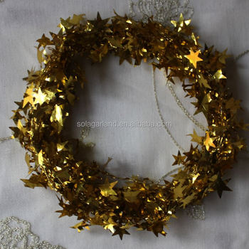 Gold Star Christmas Garlands Twinkle Twinkle Little Star For Tree Decor Buy Star Garland Christmas Garland Star Christmas Garland Product On