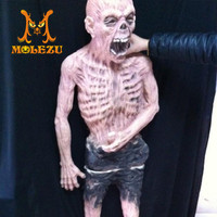 Hot sale product outdoor halloween horror zombie prop, scary post decorations props for haunted houses