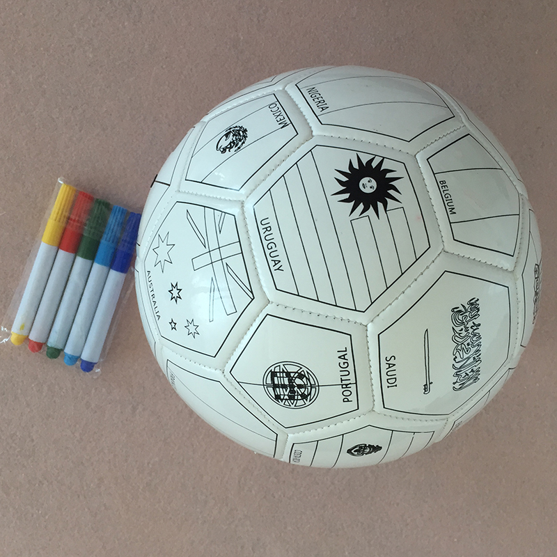 ActEarlier kids printing toy 색 네 볼 2018 world 컵 32 country flags special football 축구 공 와 펌프 needles