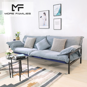 Nordic Small Apartment Sofa Designer Simple Sofa Removable Metal ...