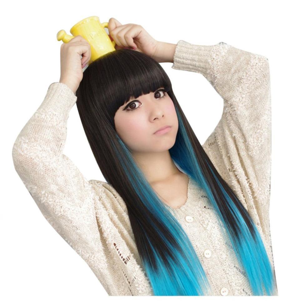 ротик японка в синем парике вариант