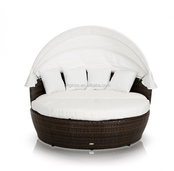 Lounge Stoel Bed.088 Fashionable Garden Outdoor Round Rattan Daybed With Canopy Or Lounge Chair Bed Buy Lounge Chair Bed Outdoor Daybed Rattan Daybed With Canopy
