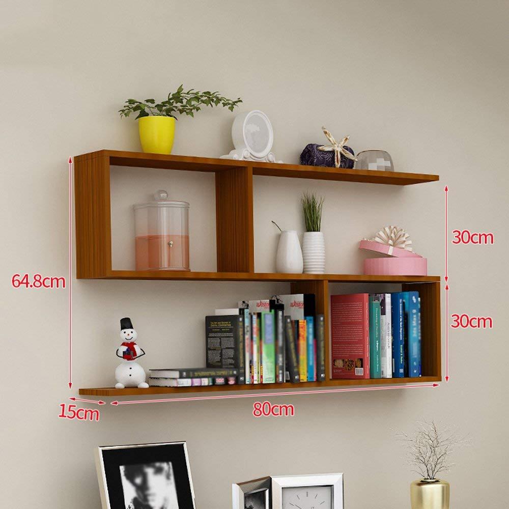Get Quotations Wall Mounted Bookshelf Shelf Partition Cabinet Hanging Creative Lattice Decoration