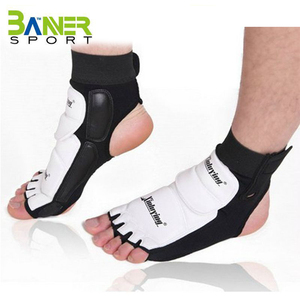 taekwondo training protector equipment PU leather Instep TKD foot guard