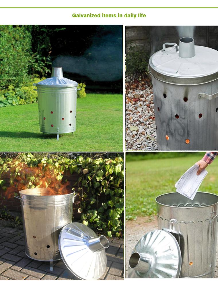 100L Galvanized Large Waste Incinerator for garden