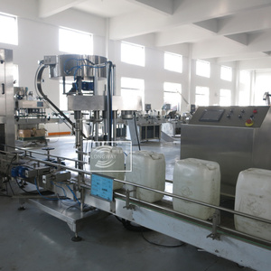 LONGWAY 5-30L Industrial full automatic barrels cans buckets liquid weighing filling machine/oil tanks drums filler line