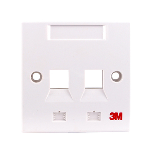 High quality 3M RJ45 dual port faceplate / cat6 2 port network face plate