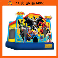 justice league Green Lantern inflatable bouncer house,superman inflatable bouncer castle