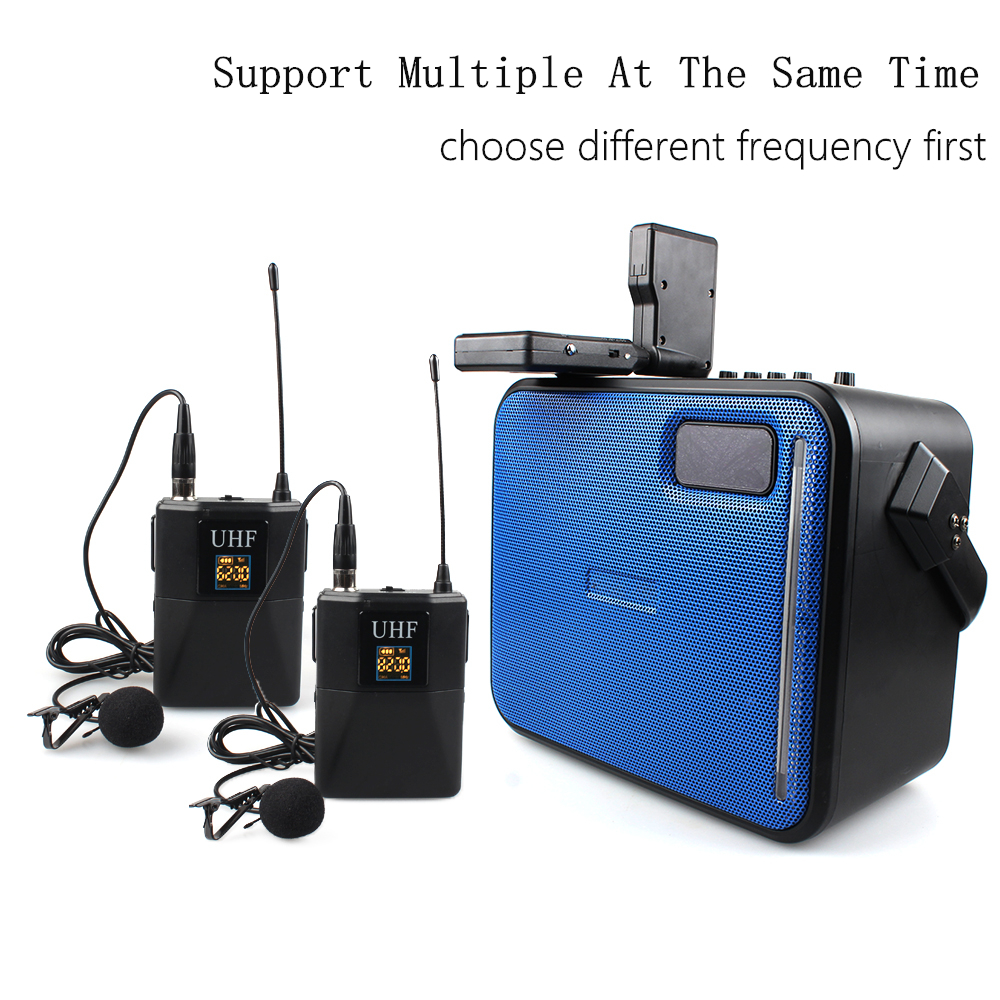 Low Price high sensitivity lavalier uhf professional wireless microphone system