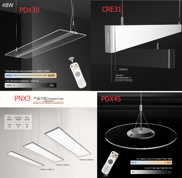 dia600mm black body CRI90 round led panel lighting