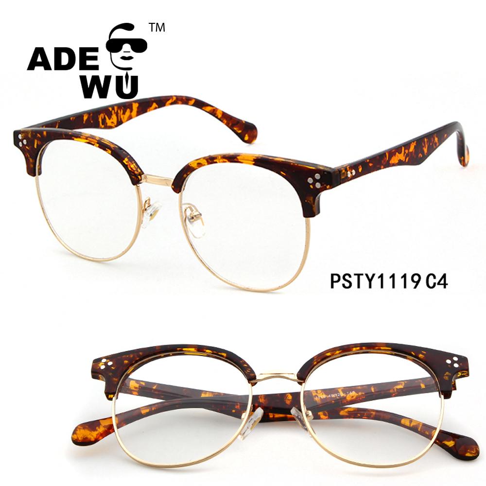 Ade Wu vintage claro lentes montura de cuerno medio marco tortuga ...