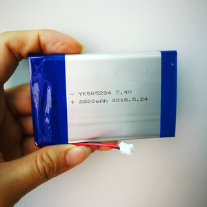 505284 2S1P 2600mah rechargeable li-ion li ion lipo lithium polymer 7.4v battery pack