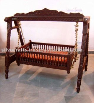 Carved Teak Wood Baby Swing Cradle Bed 4bbf091c0
