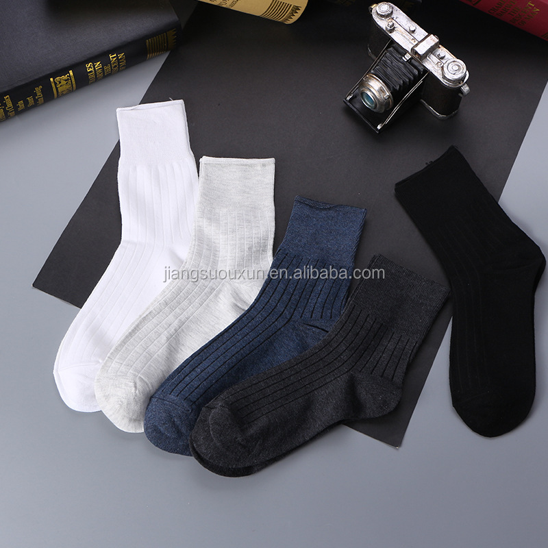 Custom combed cotton knitted man sock