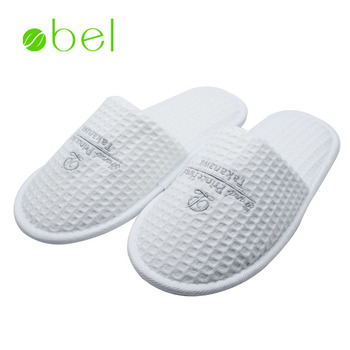 752cfc6f5 China close toe cotton waffle doctor medical hotel slippers shoes women  with sofe eva sole