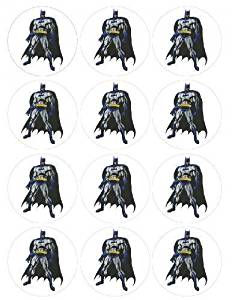 Single Source Party Supply - Batman Cupcakes Edible Icing Image #1