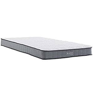 "Modway Kate 6"" Twin Innerspring Mattress - Firm Mattress for Kid Room - Perfect for Bunk Bed - Loft Bed - 10-Year Warranty"