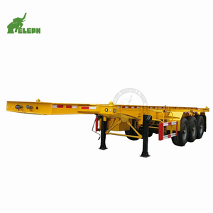 Low price truck chassis frame manufacturers 40ft Skeleton Semi Trailer