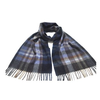 BLUE PHOENIX woven tartan plaid 100% cashmere winter thick scarves for men