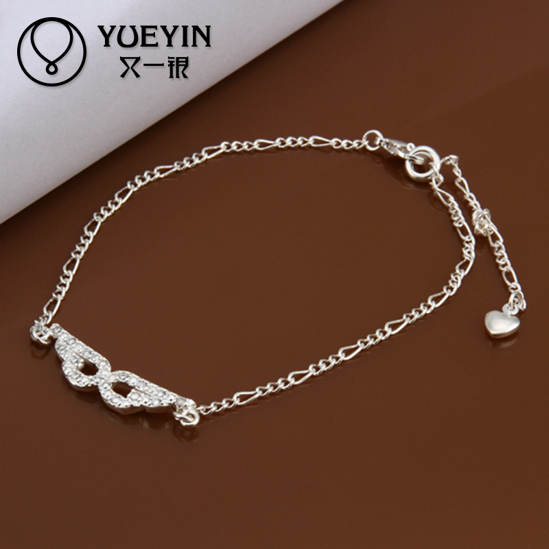 2014 Sexy silver chain anklets cheap slave anklets with eye mask pendant