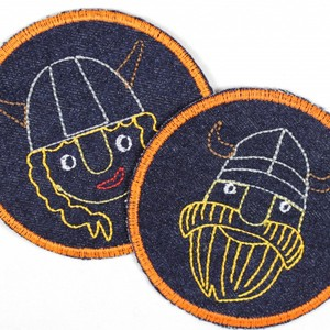 2018 cartoon colorful moon orange moon custom 3D iron on embroidery patches