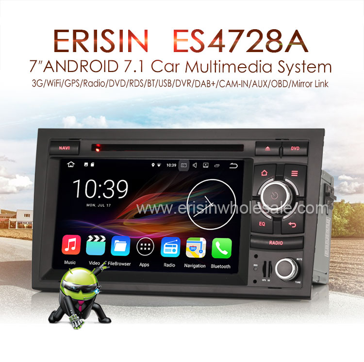 Android 7 1 Autoradio Cd Gps Dab+bluetooth Sd For Audi A4 S4 Rs4 Rns-e Seat  Exeo - Buy Can-bus Decoder Included,Dab + Box,2gb Ram Product on