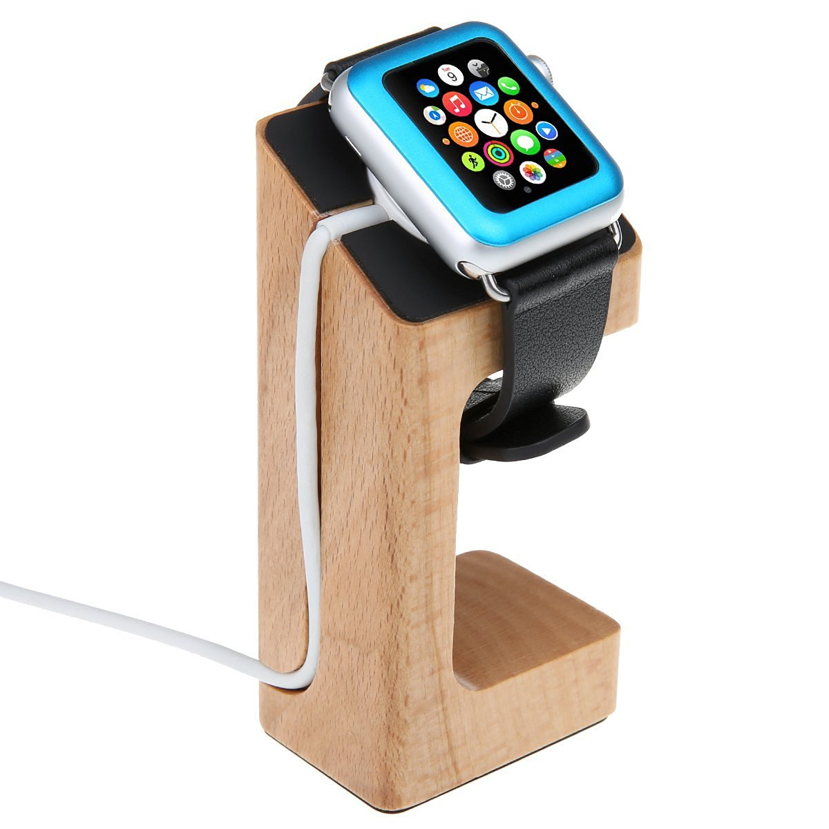 Apple Watch Stand, Wood Charging Stand Bracket Docking Station Stock Cradle Holder for Apple Watch 38mm 42mm