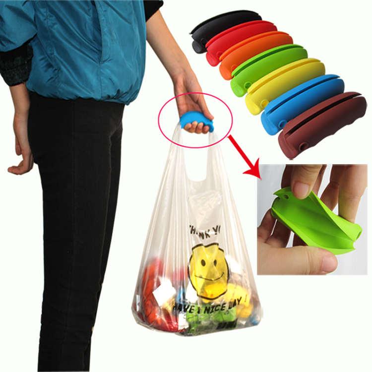 easy grip for grocery bags 7 candy colors rubber handle easy carrier shopping tool bag holder. Black Bedroom Furniture Sets. Home Design Ideas