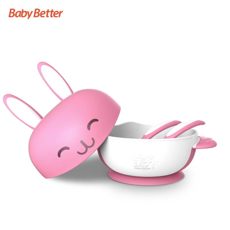 Babybetter Antibacterial Learning Suction Silicon Spill Proof Silicon Food Warmer Baby Food Bowl