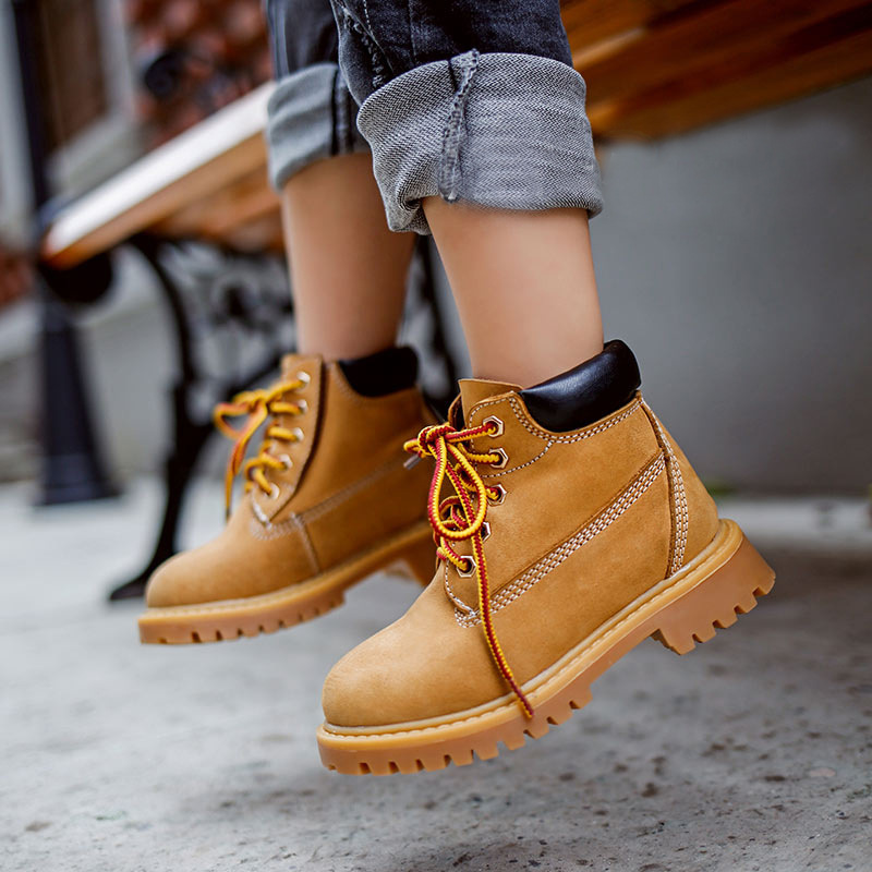New Arrival children's martin boots autumn winter genuine