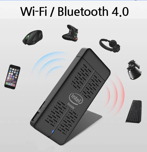 Intel Z8350 2GB RAM 32GB eMMC Wireless AC/Bluetooth Android TV Stick plus Intel Compute Stick with Win10