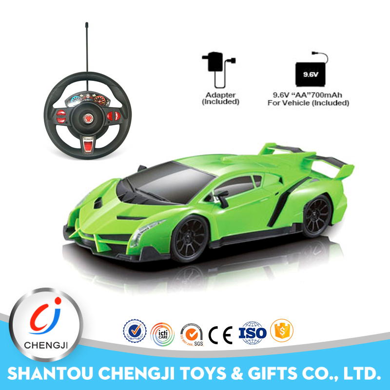Low price 1:16size four channel remote control toy sport car for kids