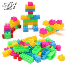 73 PCS colorful large toy plastic building blocks building toys for preschool boys