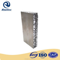 Single side wood composite aluminum foam panels for wall