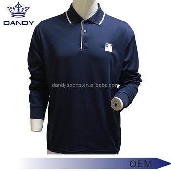 e9ae619e Polo Shirts Wholesale China Customized long Sleeve Polo Shirt , For Uniform