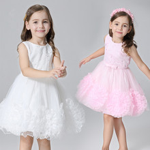 Costume Piano Recital Beaded Bodice Princess Girl Dress Smocked Girls Dresses For Special Occasions Baby Clothes 2019