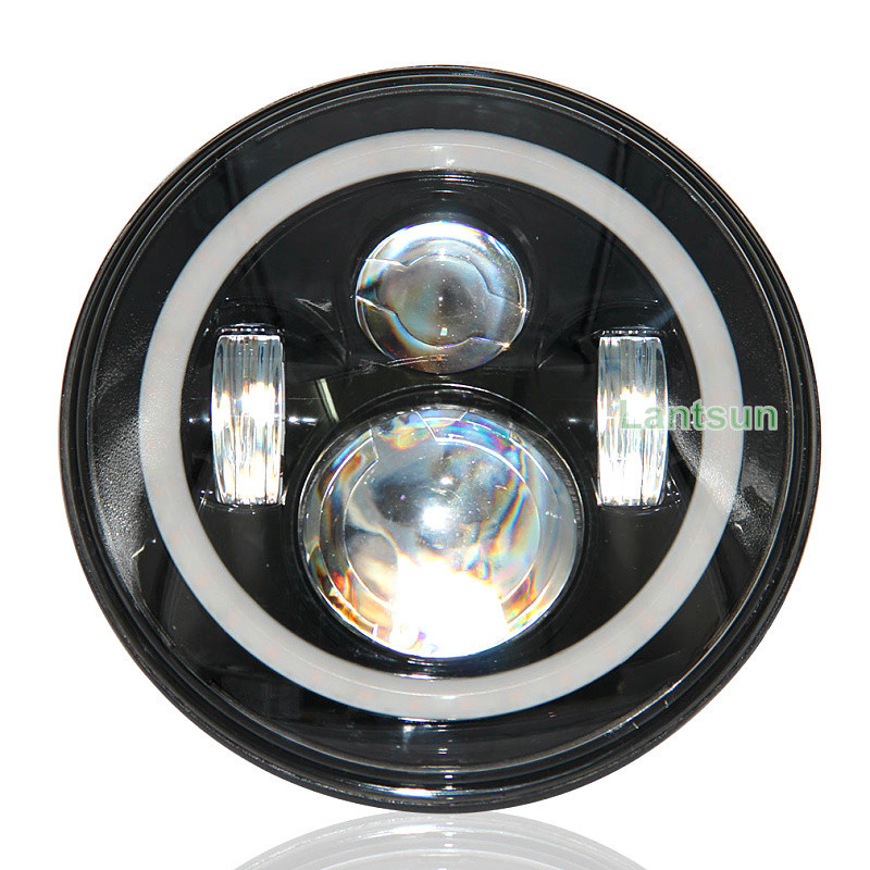 Wholesale Promotion angel eye led work light 7inch led head light for jeep wrangler accessories DOT approved