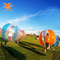 Hamster Bubble Buddy Suit, Human 1.25m TPU Bumper Body Ball, Inflatable Soccer Bubble Football Ball