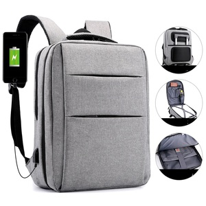 2019 new design laptop backpack multi pocket laptop conference bag with usb most cost effective backpack for business