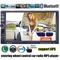 7 inch 2 Din Car Radio MP5 MP4 Player Bluetooth Video USB TF FM stereo steering