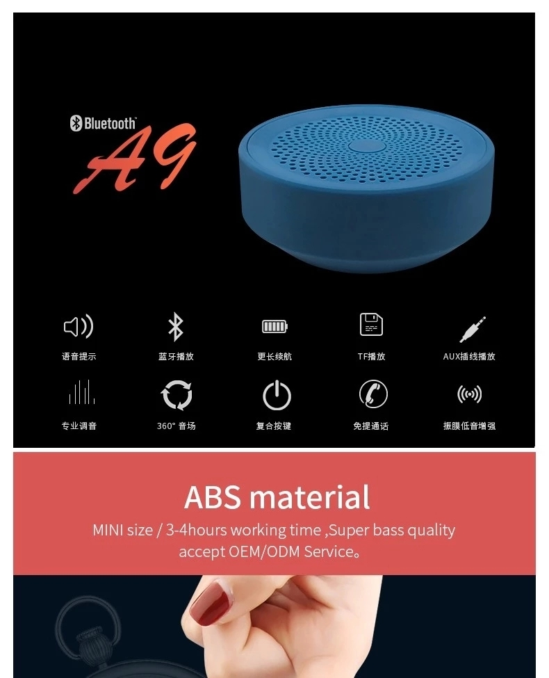 Factory Best SellBlue tooth   A9  Wireless  Speaker